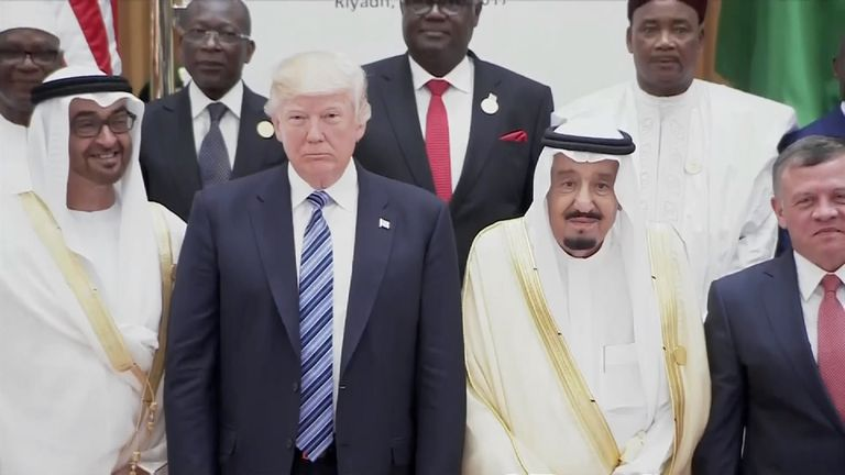Mr Trump and Arab leaders gather for a summit in Saudi Arabia