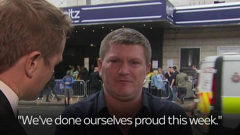 Ricky Hatton talks to Sky's Tom Parmenter