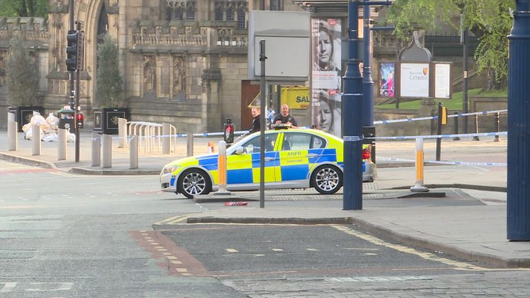 Police are investigating the scene at Manchester Arena