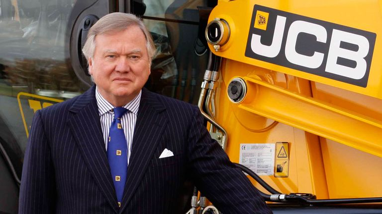 Lord Bamford has been chairman of JCB since 1975