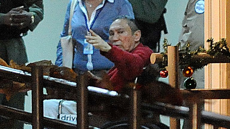 Noriega, pictured as he arrived at a Panama prison in 2011