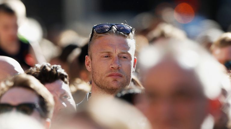 Former Lancashire cricketer Andrew 'Freddie' Flintoff was one of those who attended the vigil