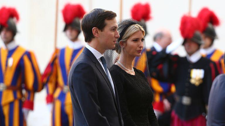 The President's daughter, Ivanka, and her husband Jared Kushner went on the visit