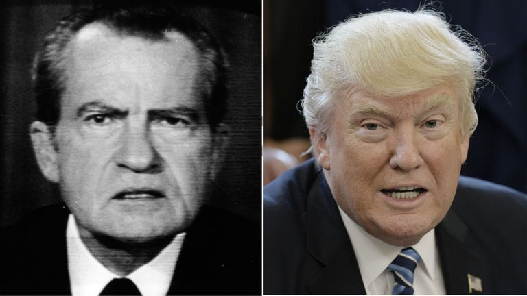 Richard Nixon (L) and Donald Trump