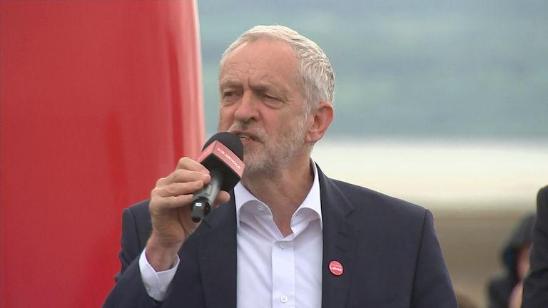 Jeremy Corbyn has criticised the Conservative manifesto