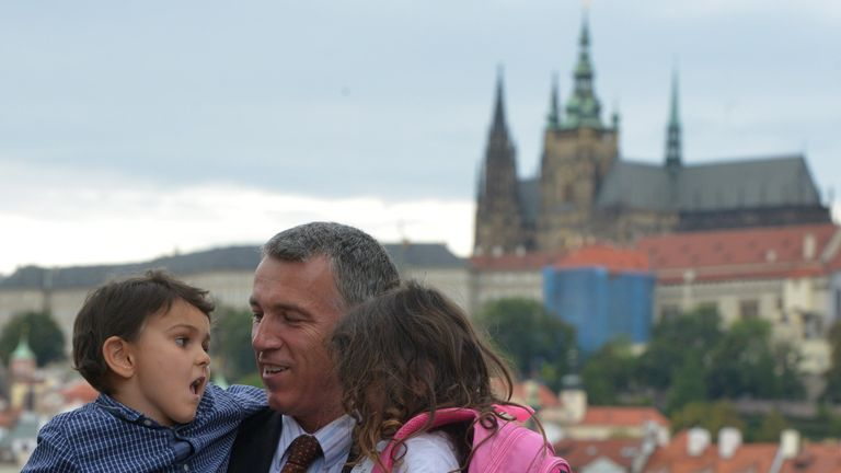 Ashya King, left with his father in Prague