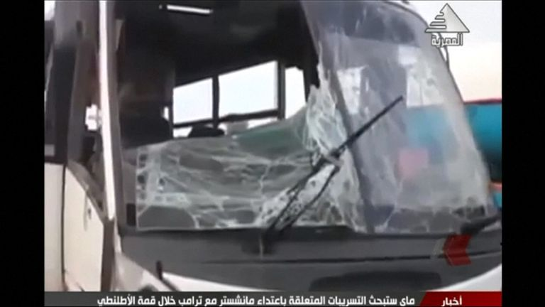 IS-linked militants opened fire on the bus as it travelled to a monastery
