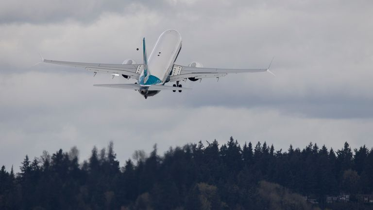 Boeing 737 MAX 9 conducted its maiden flight in April. Pic: Stephen Brashear/Getty