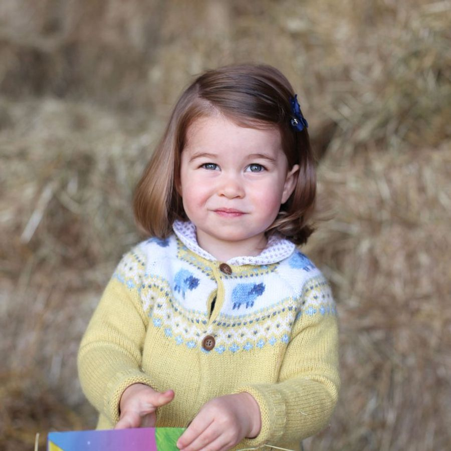 Princess Charlotte celebrating her second birthday