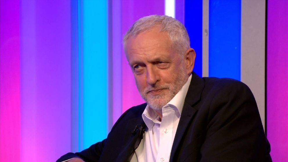 Jeremy Corbyn appears on the BBC's The One Show
