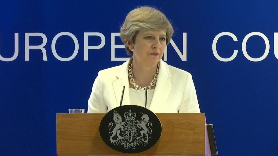 Theresa May gives an update on Brexit negotiations
