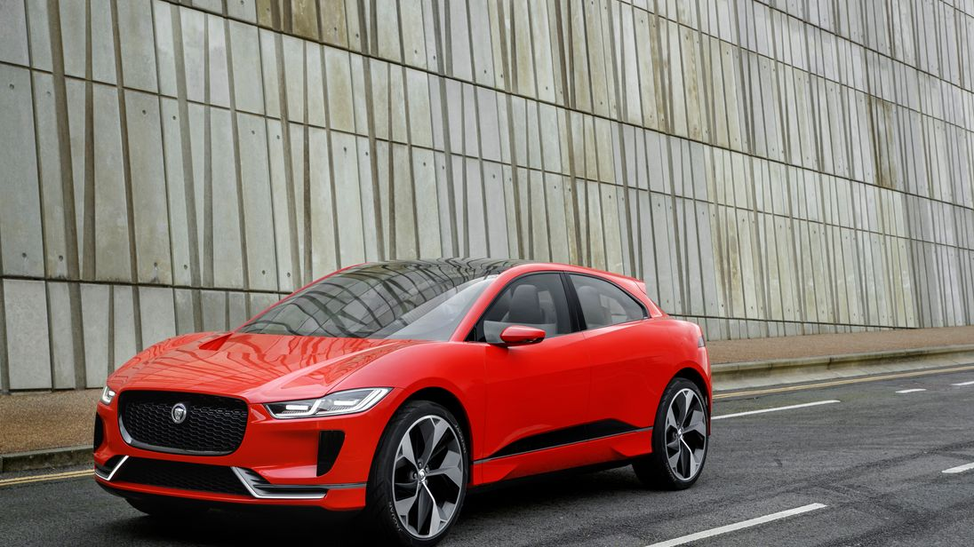The Jaguar I-PACE will have a range of over 200 miles. Pic: JLR