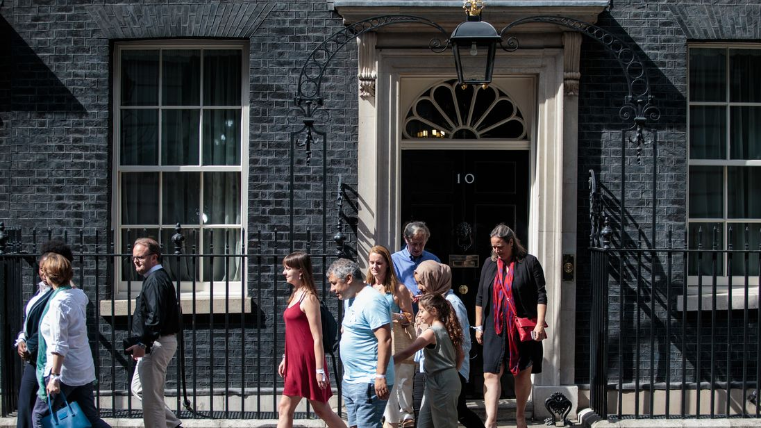 Theresa May receives residents of the Grenfell Tower Block at Downing Street