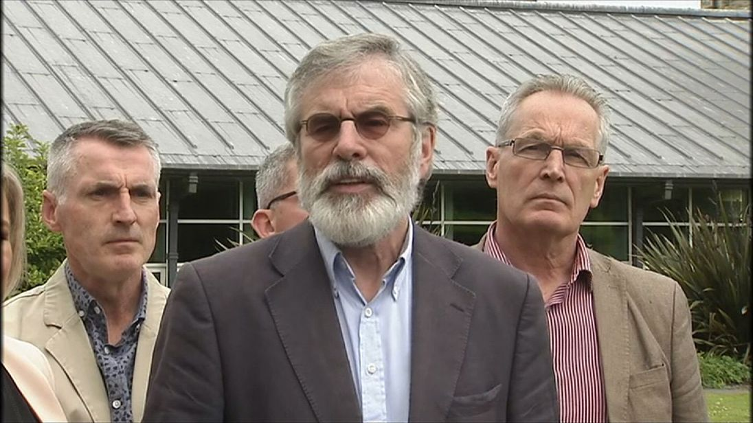 Sinn Fein leader Gerry Adams plans to step down
