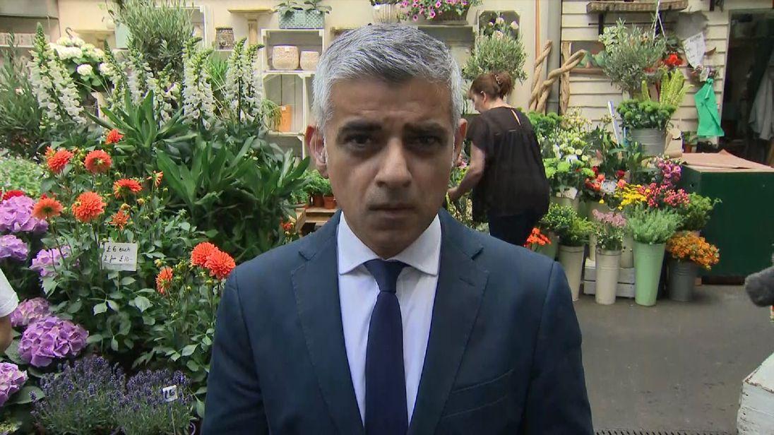 Mayor of London Sadiq Khan says legitimate questions must be asked