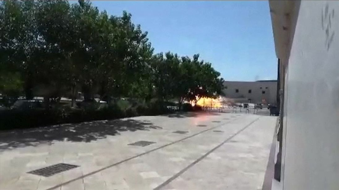 Explosion at Mausoleum of Imam Ruhollah Khomeini in Iran is captured on camera