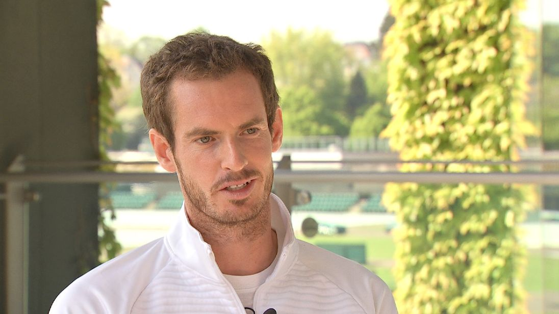 Andy Murray is the defending men's singles champion