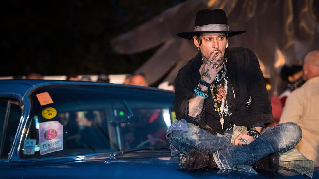Johnny Depp at Glastonbury