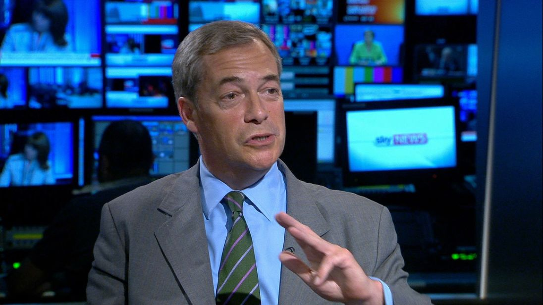 Nigel Farage denies any links to Russia or an FBI investigation