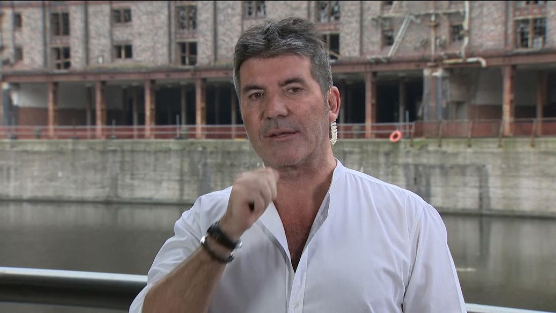 Simon Cowell speaking about Grenfell Tower charity single