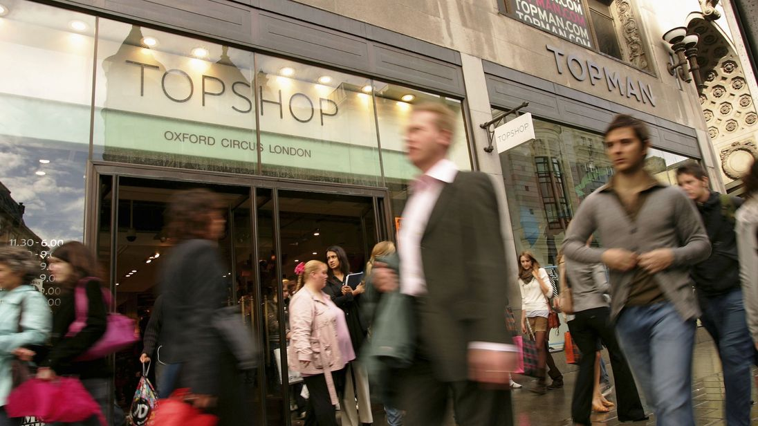 Topshop on Oxford Street, London