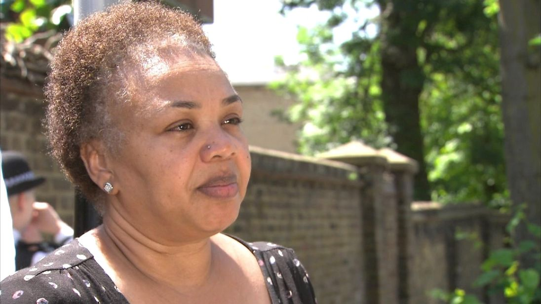 Mona Adams survived a fire in a nearby block nearby, and says lack of access contributed to the deaths