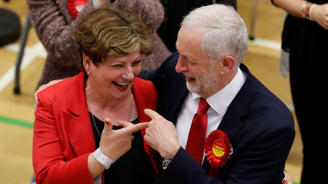 Labour leader Jeremy Corbyn and shadow foreign secretary Emily Thornberry