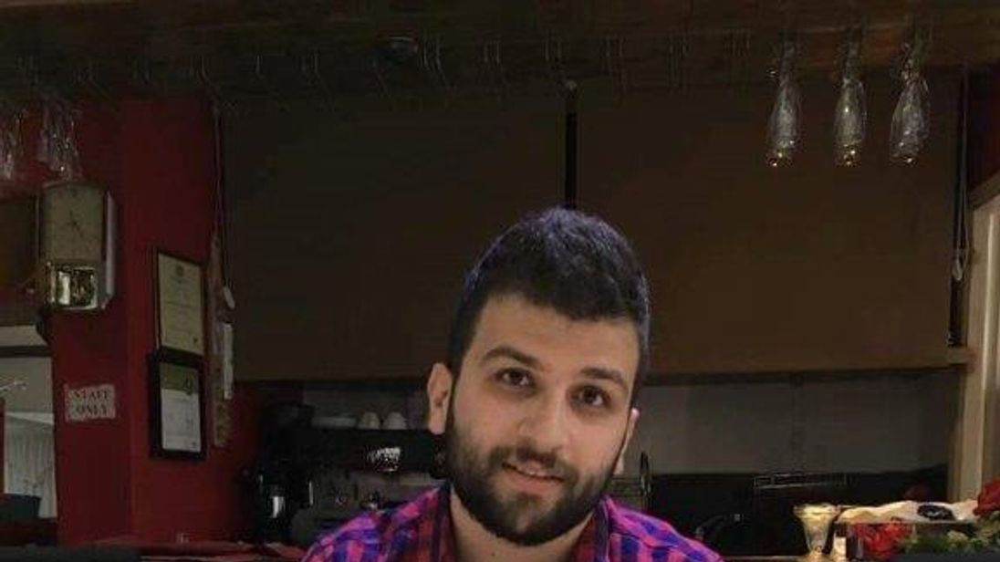 Civil engineering student Mohammed Alhajali phoned a friend to say goodbye