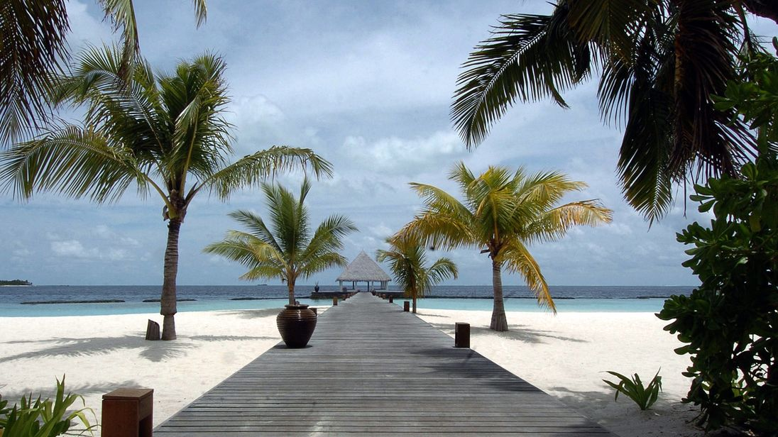 A beach on the Maldives