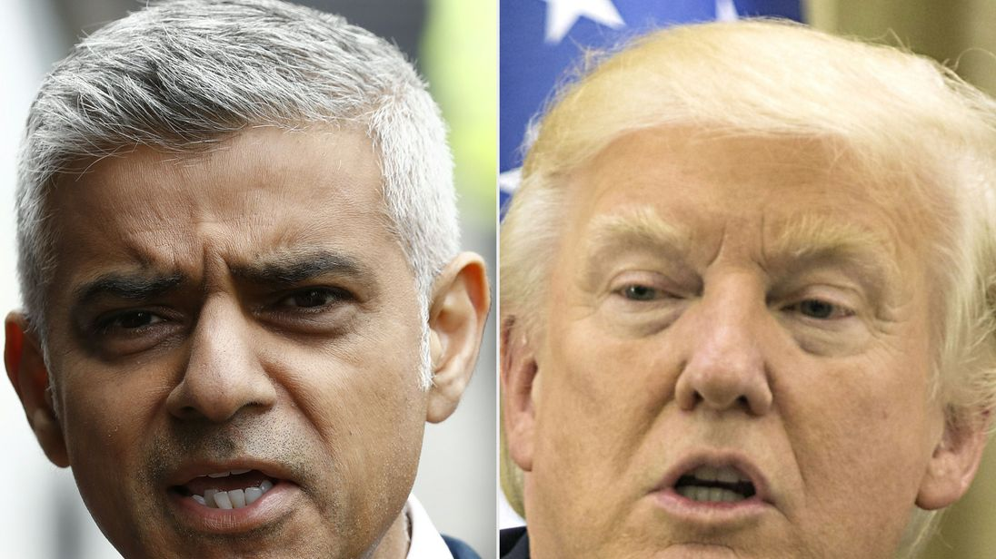 Sadiq Khan says he has 'no time' to deal with President Trump's remarks