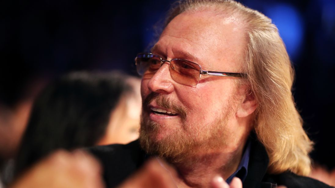 Barry Gibb during The 59th GRAMMY Awards