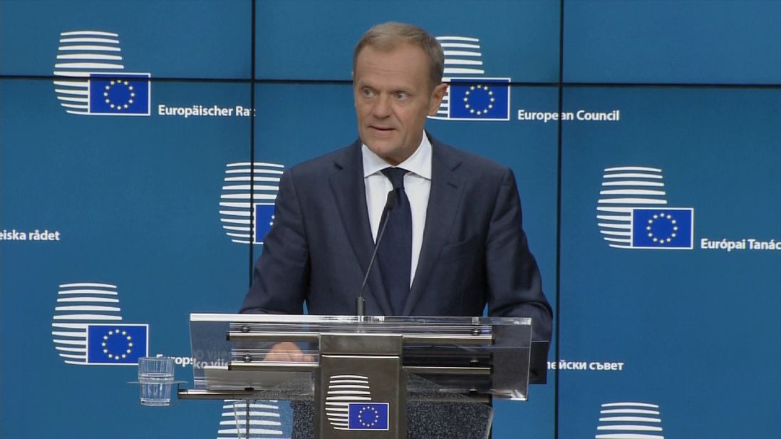 Donald Tusk says he was not impressed by Theresa May's proposals