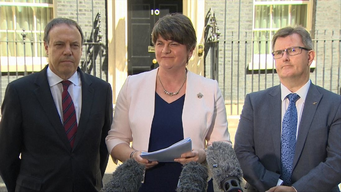 DUP leader Arlene Foster said £1bn will be available to Northern Ireland
