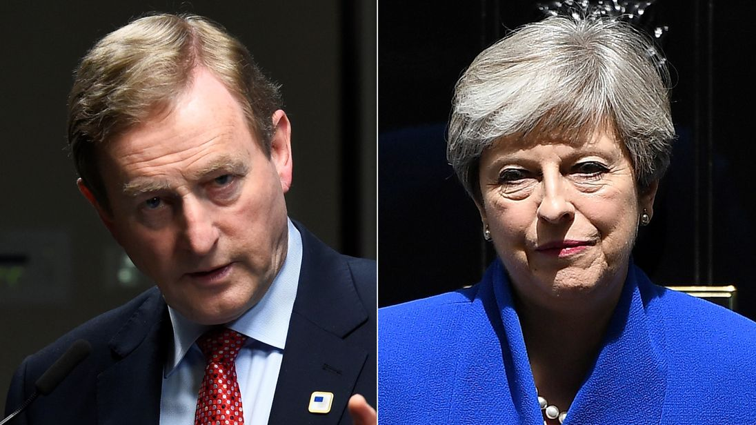 Mr Kenny told the PM a Conservative-DUP deal would create a 'challenge'