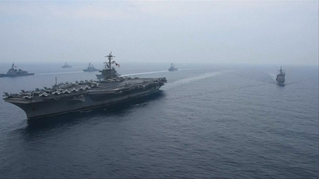 US warships join Japanese vessels in Sea of Japan