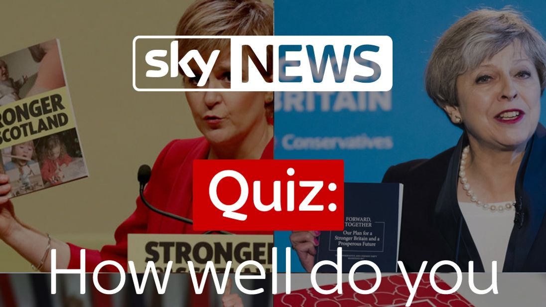 How well do you know the manifestos?