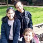 (L-R) Choucair sisters Fatima, 11; Mierna, 14; and Zeinab, 3
