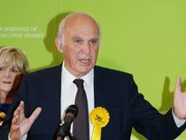 Sir Vince Cable speaks after winning back his Twickenham seat