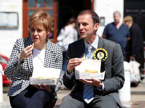 Nicola Sturgeon and Stephens Gethins