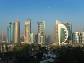 The Doha skyline, Qatar