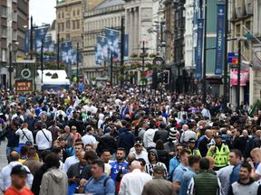 Fans arrive for the 2017 Champions League final in Cardiff
