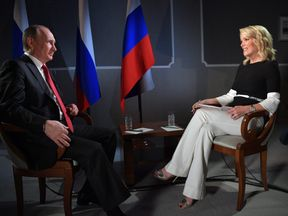 Vladimir Putin and NBC's Megyn Kelly