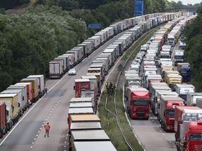 Brexit could cause continuous tailbacks on the M20 in Kent