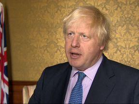 Foreign Secretary Boris Johnson