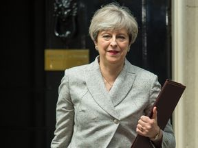Prime Minister Theresa May leaving 10 Downing Street