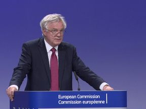 David Davis reports to media following commencement of Brexit talks