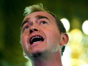 Liberal Democrats leader Tim Farron speaks after the election