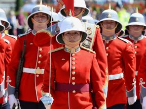 Captain Megan Couto is the first female Captain of the Queen's Guard at Buckingham Palace