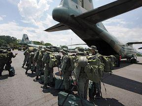 A Y-8F-100 plane used by Venezuelan troops. File-pic