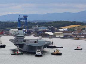 Ministry of Defence handout photo of HMS Queen Elizabeth,